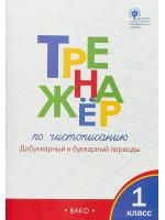 Тренажёр по чистописанию (добукварный и букварный периоды). 1 класс. Автор Жиренко